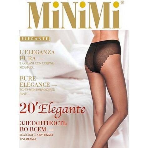 Колготки MiNiMi Elegante 20 (ажурные трусики)